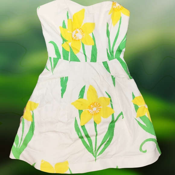LILLY PULITZER Strapless Floral Mini Summer Dress